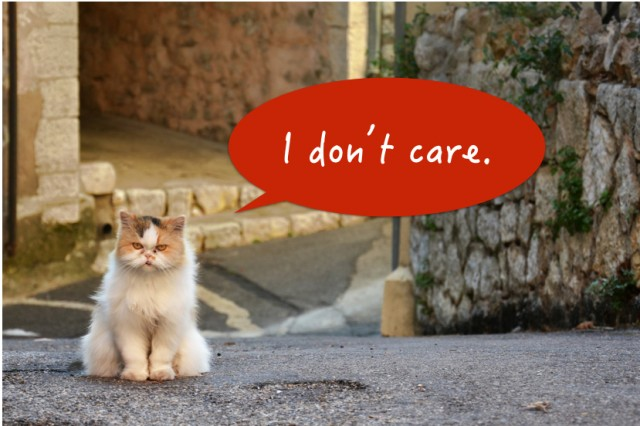 I don't care.001